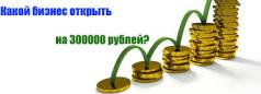 открыть бизнес за 300 тысяч